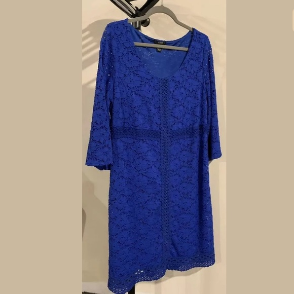 Alfani Dresses & Skirts - *Alfani Blue Lace Knee Length Dress*
